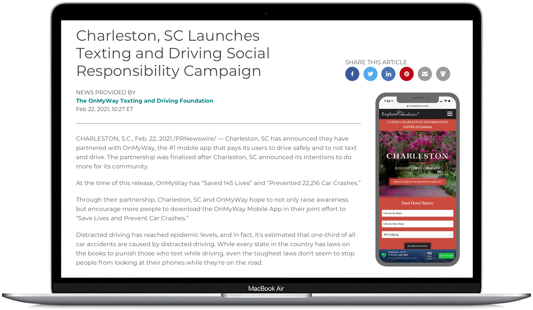 Charleston SC Press Release